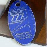 プレーンタグ 元 ANA B777-200 JA8199 キーホルダー|PLANE TAG