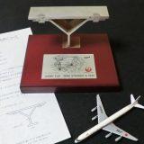 日本航空 DC-8 『富士号』記念品オブジェ JA8001
