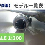 【1/200 価格一覧表】全日空商事のモデルプレーン(発売当時の値段)