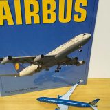A350の空力的に洗練されたデザインを楽しむ|読書タイムはモデルプレーンと一緒に